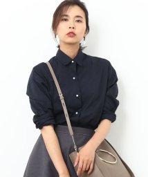 ROPE'/【Oggi11月号掲載】カフス刺繍入りパールボタンシャツ/500488667