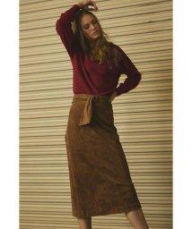 PROPORTION BODY DRESSING/《BLANCHIC》カラースエードペンシルタイトスカート/500490354