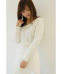 PROPORTION BODY DRESSING/【CanCam 12月号掲載】パフィケーブルニット/500490357
