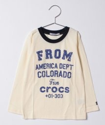 crocs(KIDS WEAR)/CROCSプリント長袖Tシャツ/500475124