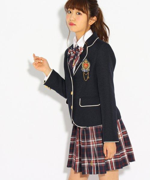 PINK-latte(ピンク ラテ)/【卒服】エンブレム付きパイピングジャケット/99990931941024