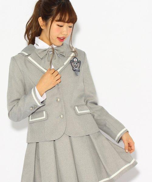 PINK-latte(ピンク ラテ)/【卒服】エンブレム付きセーラー風ジャケット/99990931941026