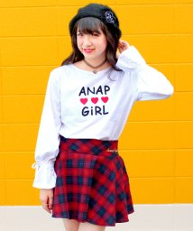 ANAP GiRL/タータンチェックフレアスカート/500489810