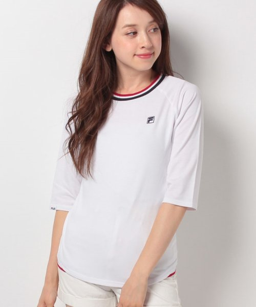 FILA(フィラ)/FILA【LADY'S】T/Cベア天7分袖Tシャツ/447608