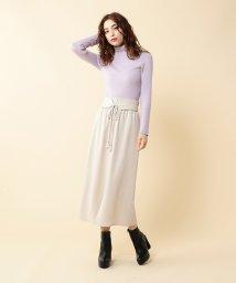 MIIA/スリットロングギャザースカート/500511607