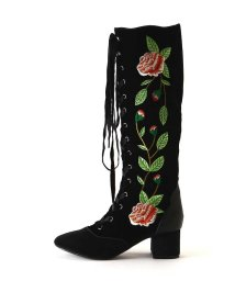 ROSE BUD/フラワー刺繍ロングブーツ/500515280