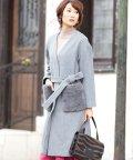 NATURAL BEAUTY BASIC/【MAGASEEK/d fashion限定】フェイクファーポケットライトコート/500516526