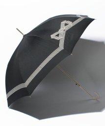 pink trick/雨晴兼用 長傘 (UVカット&軽量) ジャンプ傘 テープリボン /500486525
