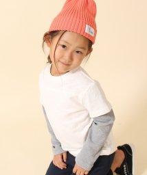 coen/【coen キッズ / ジュニア】フェイクレイヤードフットボールTシャツ(100~150cm)/500490467