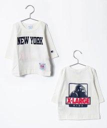 XLARGE KIDS/チャンピオンコラボロゴ入りTシャツ/500491726