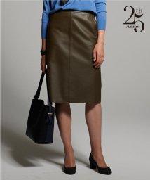 NIJYUSANKU(LARGE SIZE)/【25周年アイテム】シープレザー タイト スカート/500517234