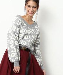 ViS/【2WAY】花柄ジャガードプルオーバー/500517495