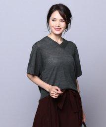 JIYU-KU /【亜希さん着用】AIR CASHIMERE 半袖プルオーバー (検索番号R21)/500519034