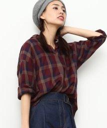 ViS/【sweet11月号掲載】チェック柄スキッパーシャツ/500519491