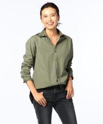 Rie Miller/スーピマコットンブロードレギュラーカラーシャツ/500511990