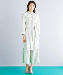 ICB(LARGE SIZE)/【セットアップ可・洗える】TenderStripe シャツワンピース/500525849