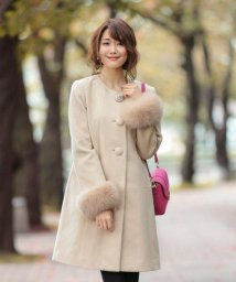 Debut de Fiore/★【MAGASEEK/d fashion限定カラー】Ladyノーカラーコート/500480080