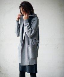 JIYU-KU /【マガジン掲載・洗える】フード付き ニットアウター(検索番号T26)/500527881