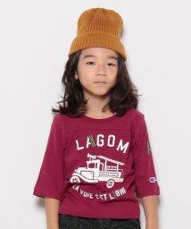 LAGOM/【Champion別注】ハシゴ車pt7分袖Tシャツ/500492623