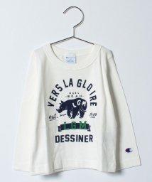 LAGOM/【Champion別注】サイプリント長袖Tシャツ/500492624