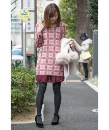 PROPORTION BODY DRESSING/モヘアチェック裾シフォンワンピース/500528022