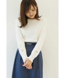 PROPORTION BODY DRESSING/ASPIN袖レース畦ニット/500528023