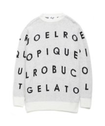 GELATO PIQUE HOMME/【Joel Robuchon & gelato pique】'Homme'スムーズィー'シルクミックスジャガードプルオーバー/500518184