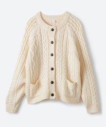 haco!/古着屋さんで見つけたようなもっふりケーブル編みカーディガン/500523758