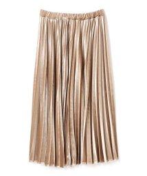 PROPORTION BODY DRESSING/《BLANCHIC》ストレッチベロアプリーツスカート/500530645