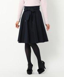 MISCH MASCH/【TVドラマ着用】【CanCam12月号/美人百花12月号掲載】リボンベルトフレアースカート/500413599