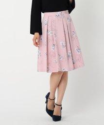 MISCH MASCH/フロッキー花柄フレアースカート/500450841