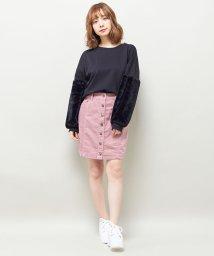INGNI/コーデュロイ前ボタン台形スカート/500512184