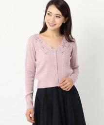 MISCH MASCH/花スカラ刺繍カーディガン/500524783