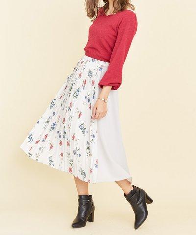 【Noela(ノエラ)】オリジナルヴィンテージフラワー柄スカート