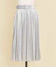 Noela/ベロアプリーツミディ丈スカート/500532086