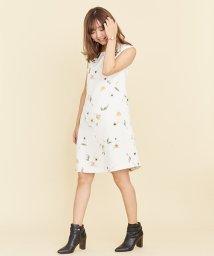 Noela/オリジナル水彩フラワー柄ワンピ/500532092
