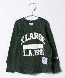 XLARGE KIDS/ChampionコラボワッフルロゴTシャツ/500522820