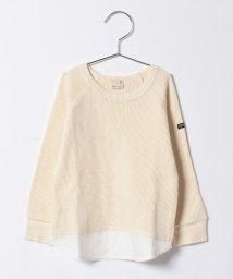 petit main/フェイクレイヤードワッフルTシャツ/500523198