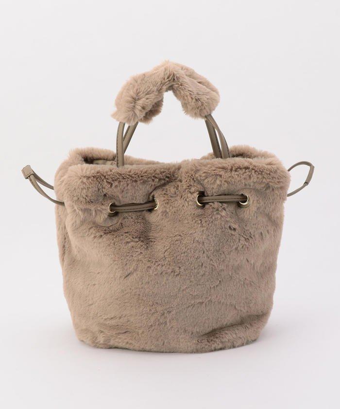 フェイクファーミニバッグ