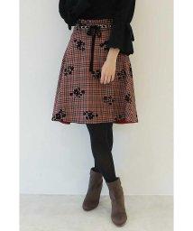 PROPORTION BODY DRESSING/フラワーオンチェックフレアースカート/500535121
