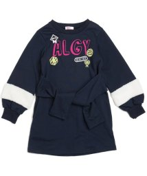 ALGY/ボア袖腰巻き風ワンピ/500533710