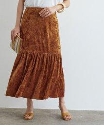 ROPE' mademoiselle/クラッシュベロアパネルギャザースカート/500544034