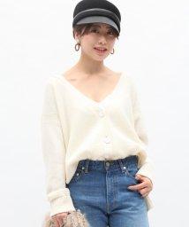 ROPE' mademoiselle/カシミヤブレンドVネックカーディガン/500544036