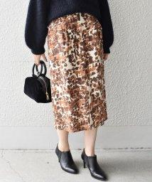 SHIPS WOMEN/フロントスリットスカート(レオパード)◇/500552028