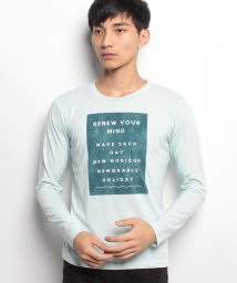 JNSJNM/【BLUE STANDARD】プリントロングスリーブTシャツ/500519615