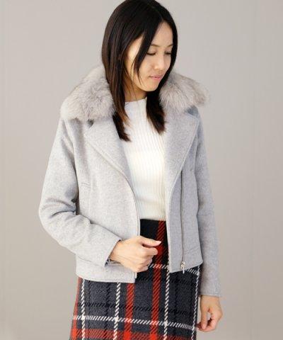 【STRAWBERRY-FIELDS(ストロベリーフィールズ)】ヴィスビーバー コート