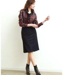 NARA CAMICIE/【セットアップ対応商品】バーズアイタイトスカート/500557476
