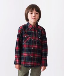 SHIPS KIDS/SHIPS KIDS:チェック ウエスタン シャツ(100〜130cm)/500558383