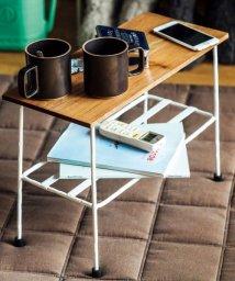 haco!/少し背の低い ちょい置きマイローテーブル<ナチュラルホワイト>/500560281