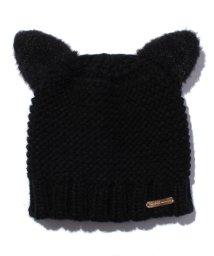 petit main/フェイクファーネコ耳つきニット帽/500535692